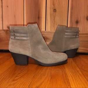 NWT Taupe Suede Booties